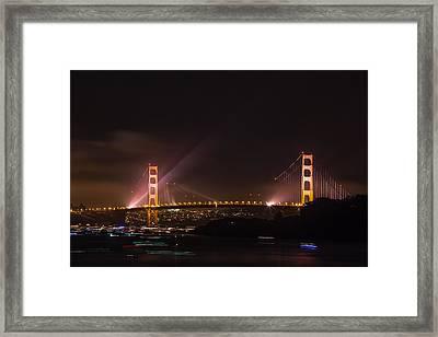 Golden Gate 75th - After The Fireworks Framed Print