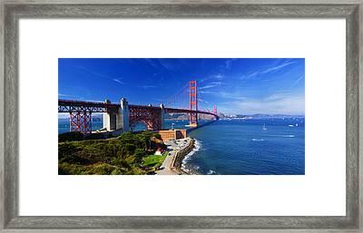 Golden Gate Bridge 1. Framed Print by Laszlo Rekasi
