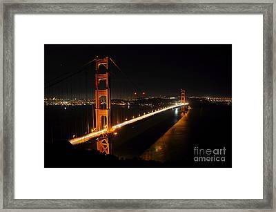 Framed Print featuring the photograph Golden Gate Bridge 2 by Vivian Christopher