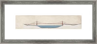 Golden Gate Bridge, Artwork Framed Print