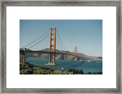 Golden Gate Bridge As Seen Framed Print by J. Baylor Roberts