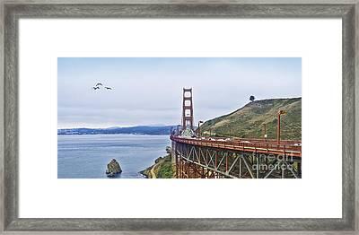Golden Gate Bridge Framed Print by Betty LaRue