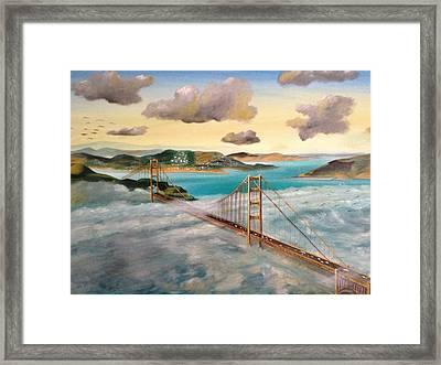 Golden Gate Bridge Framed Print by Biren