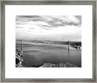 Golden Gate Bridge Framed Print by Underwood Archives