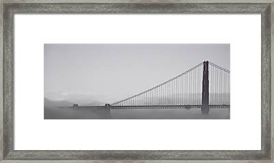 Framed Print featuring the photograph Golden Gate Morning by Don Schwartz