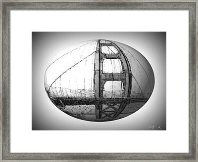 Golden Gate S.f. Framed Print by Rene Avalos