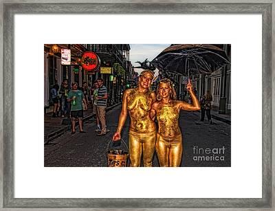Golden Girls Of Bourbon Street  Framed Print by Kathleen K Parker