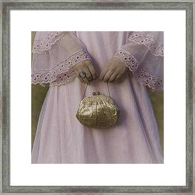 Golden Handbag Framed Print by Joana Kruse