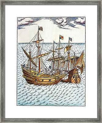 Golden Hind, 1579 Framed Print by Granger