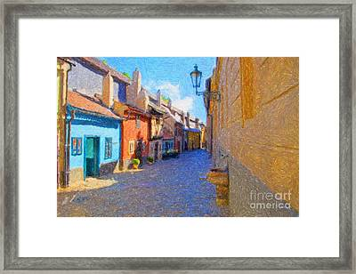 Golden Lane Framed Print