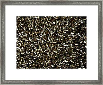 Golden Leaf Framed Print by David Dehner