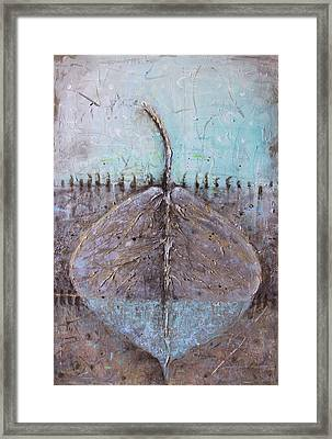 Framed Print featuring the painting Golden Leaf by Lolita Bronzini