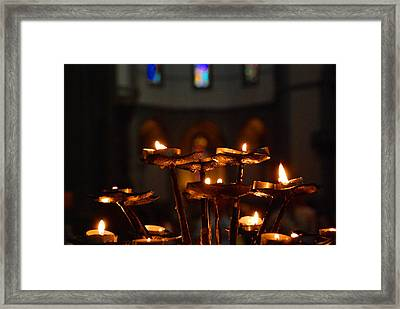 Framed Print featuring the photograph Golden Lights by Dany Lison