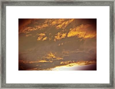 Golden Lit Sky After The Rain Framed Print by Lee Yang