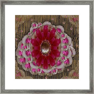 Golden Lotus Rain Of Love Framed Print