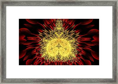 Framed Print featuring the photograph Golden Mandelbrot by Lea Wiggins