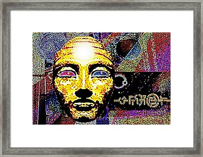 Framed Print featuring the mixed media Golden Mask Mystery by Hartmut Jager
