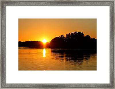 Golden Moment Framed Print by Mike Stouffer