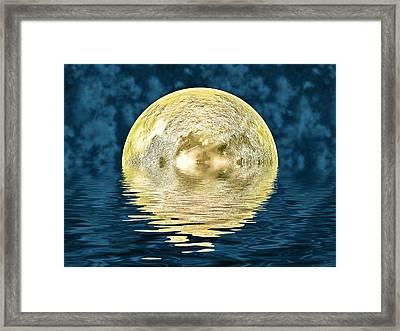 Golden Moon Framed Print by Sharon Lisa Clarke