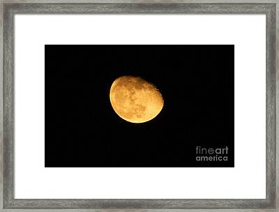 Golden Moon Framed Print by Tyra  OBryant