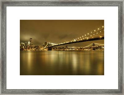 Golden Night Framed Print by Evelina Kremsdorf