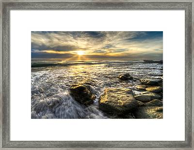 Golden Nuggets Framed Print by Debra and Dave Vanderlaan
