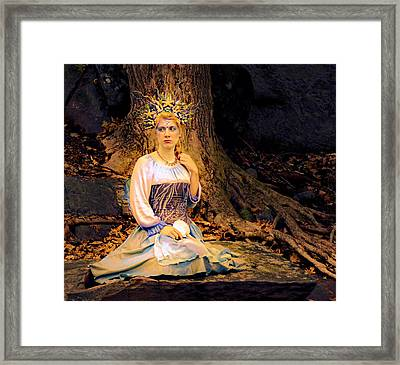 Golden Nymph Framed Print by Rachel Katic