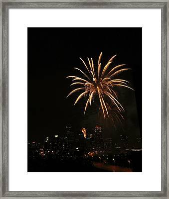 Golden Palm Tree Framed Print by Heidi Hermes