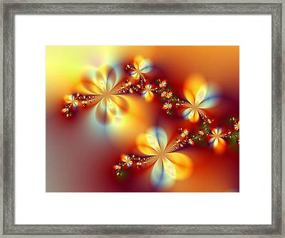 Golden Paradise Framed Print