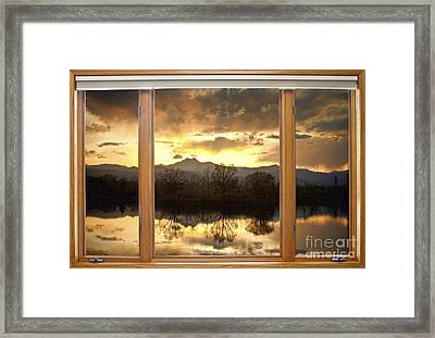 Golden Ponds Window With A View Framed Print