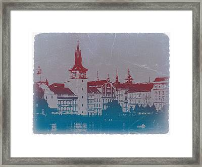 Golden Prague Framed Print by Naxart Studio