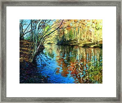 Golden Reflections Framed Print by Sergey Zhiboedov