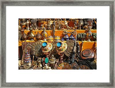 Golden Relics Framed Print