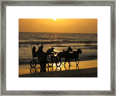 Golden Rides Framed Print by Kanan Trivedi