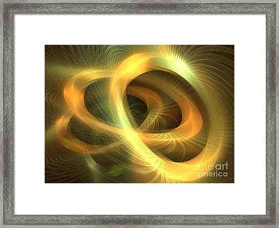 Golden Rings Framed Print