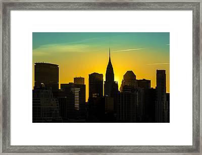 Golden Rise Framed Print by Janet Fikar