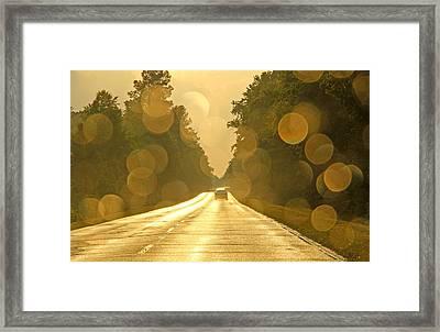Golden Road Framed Print by Daniela Duncan