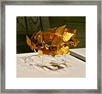 Golden Roman Crown Framed Print by Kirsten Giving