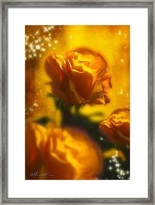Golden Roses Framed Print by Svetlana Sewell