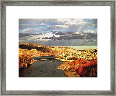 Golden San Juan River Framed Print