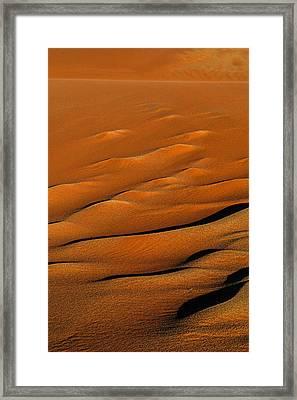 Golden Sand Framed Print