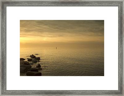 Golden Sea Framed Print by Bob Retnauer