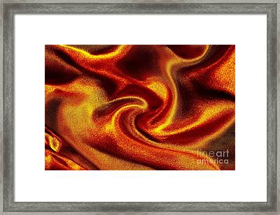 Golden Silk Background Framed Print by Anna Om