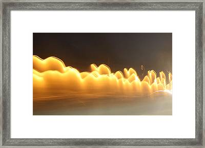 Golden Smoke Framed Print by Tami Rounsaville