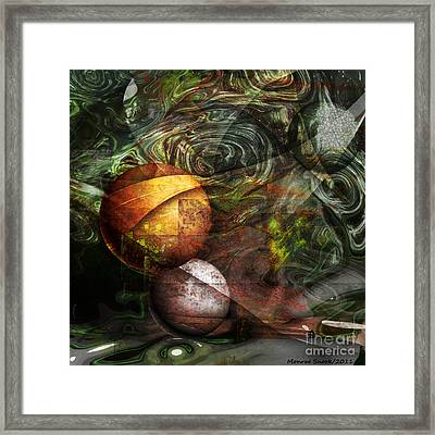 Golden Sphere Framed Print by Monroe Snook