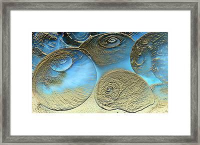 Golden Spirals Framed Print by Barbara  White