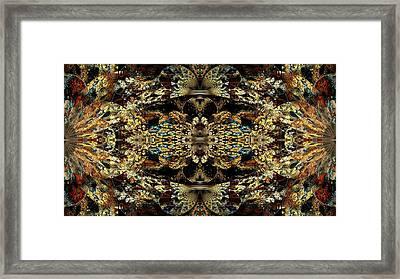 Golden Split Crop Framed Print by Peggi Wolfe