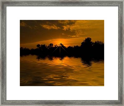 Golden Sunrise Framed Print by Cindy Haggerty