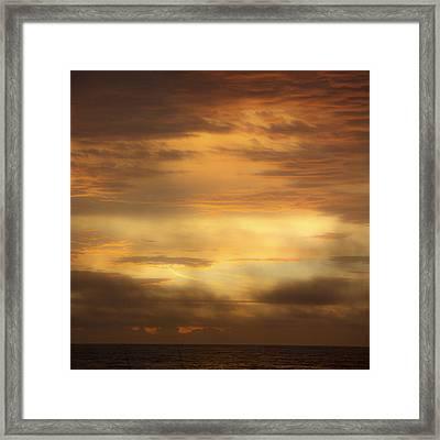 Golden Sunrise Squared Framed Print