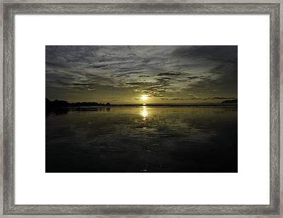 Golden Sunset 7188 Framed Print by Sortarivs Arts